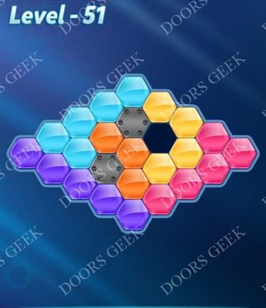Block! Hexa Puzzle [Intermediate] Level 51 Solution, Cheats, Walkthrough for android, iphone, ipad, ipod