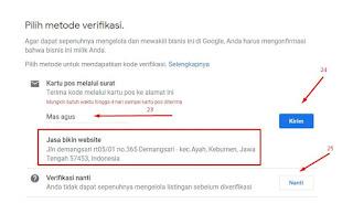 Membuat profile bisnis di google bisnisku.