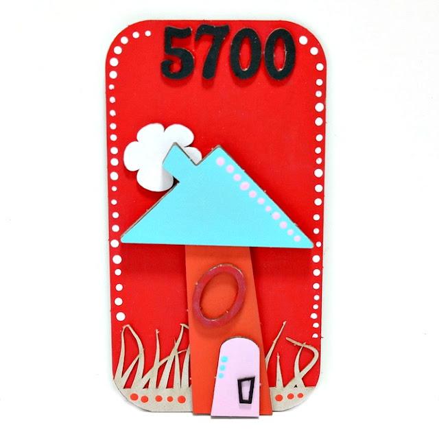 Whimsical House Mixed Media Board by Dana Tatar