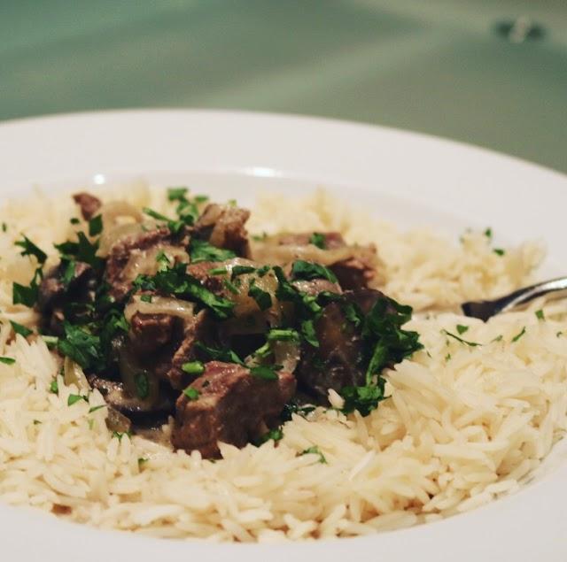 The BEST Slow Cooked Beef Stroganoff