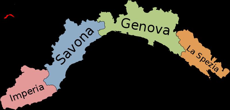 italië ligurische kust