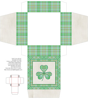 Printable shamrock box