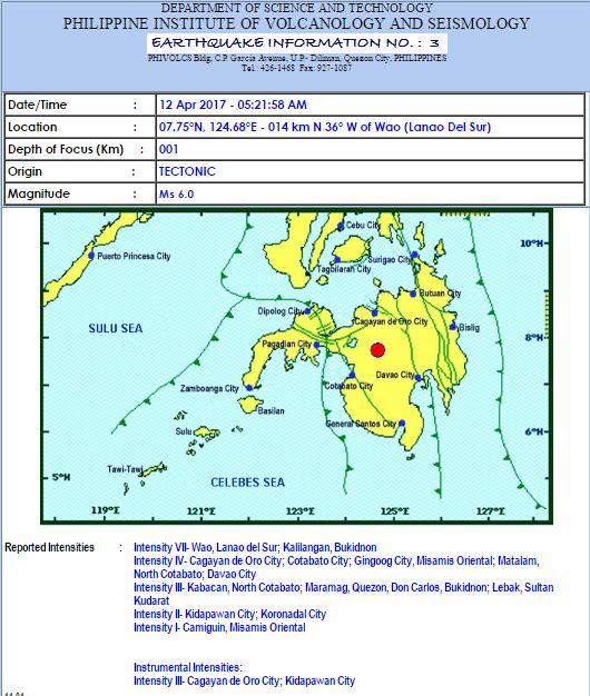 Earthquake April 12, 2017