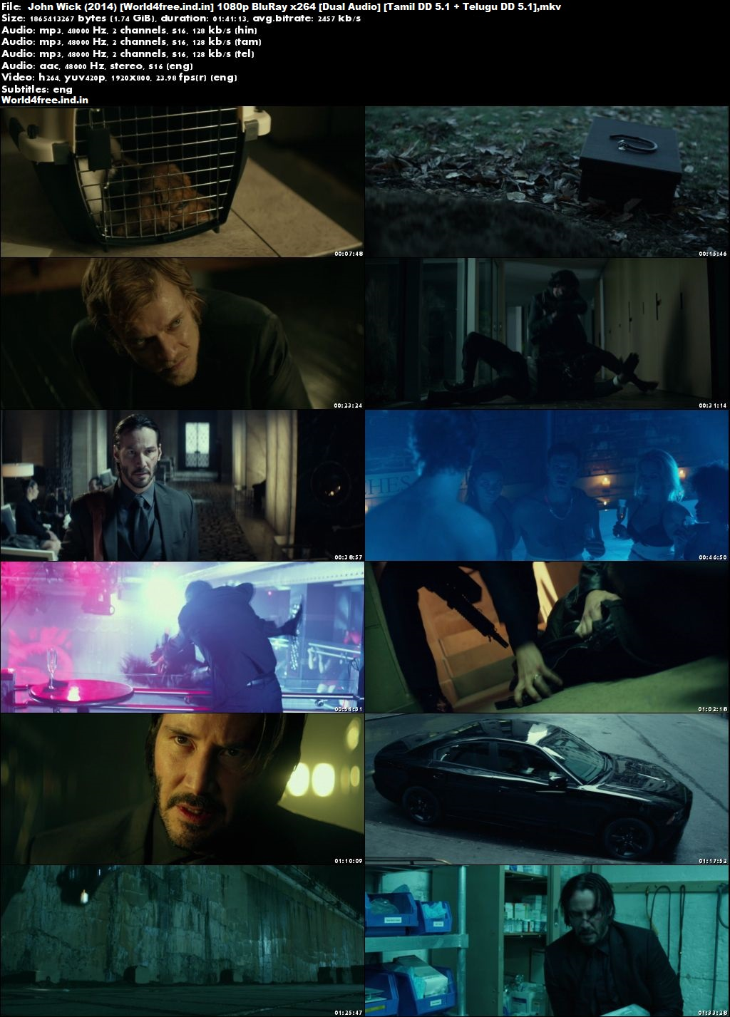 John Wick 2014 World4free.ind.in Dual Audio BRRip 1080p Hindi English