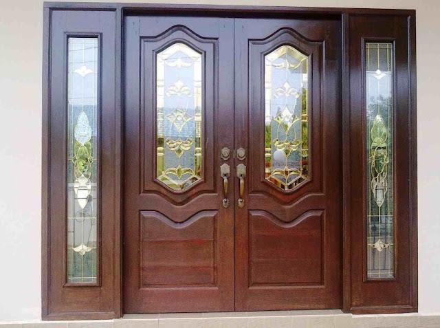 pintu rumah minimalis modern 2 pintu besar kecil