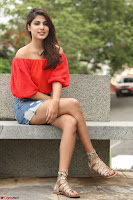 Rhea Chakraborty in Red Crop Top and Denim Shorts Spicy Pics ~  Exclusive 029.JPG