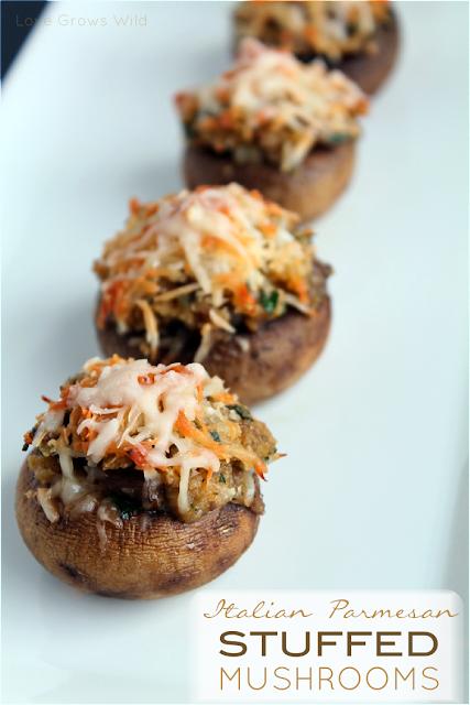 Italian Parmesan Stuffed Mushrooms with Kraft #FreshTake #CBias by www.LoveGrowsWild.com