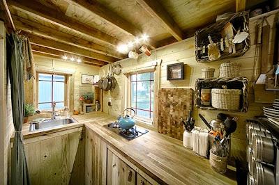 Hermosa cabaña hecha a mano