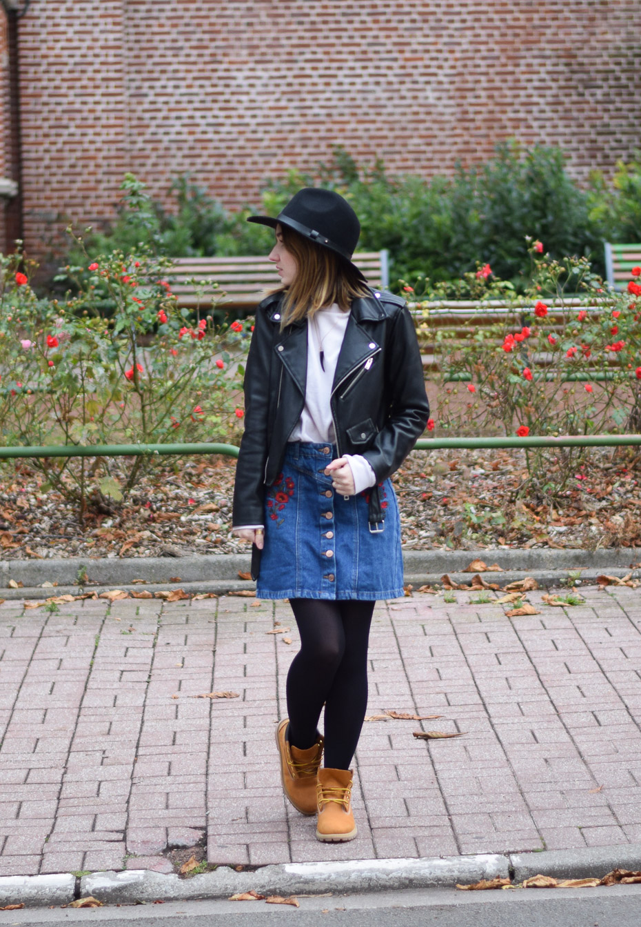 perfecto zara panama h&m outfit look fall