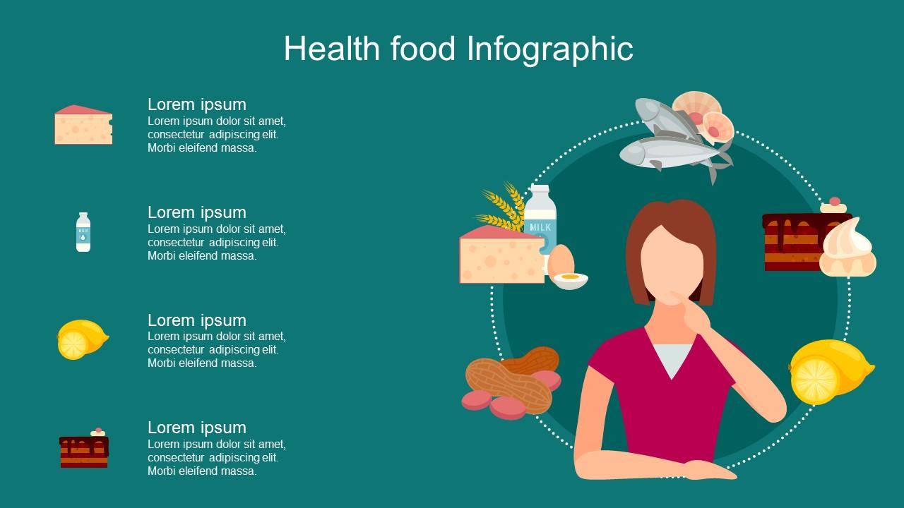 عرض بوربوينت انفوجرافيك للأكلات