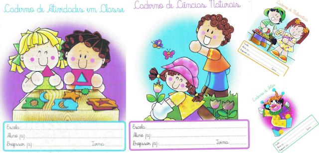 Frentes, Capinhas e bordas para cadernos para imprimir e baixar e colorir