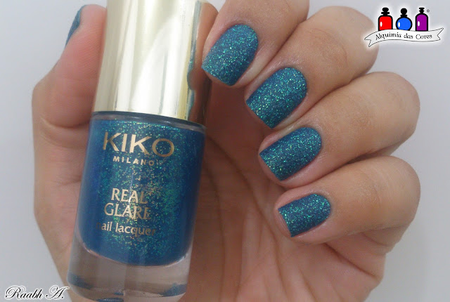 Kiko, Adrenaline Ocean Green, Teal, Unhas, Nails, Texturizado, Sand