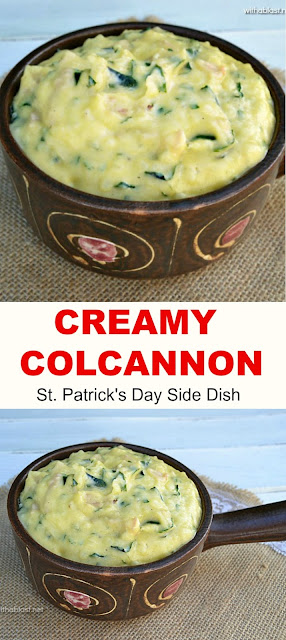 The creamiest Colcannon recipe ever ! With Spinach and Ham this is always a winning Irish side dish