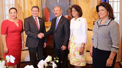 VIDEO: Se fortalecen relaciones RD-Honduras: Danilo Medina recibe a Hernández Alvarado