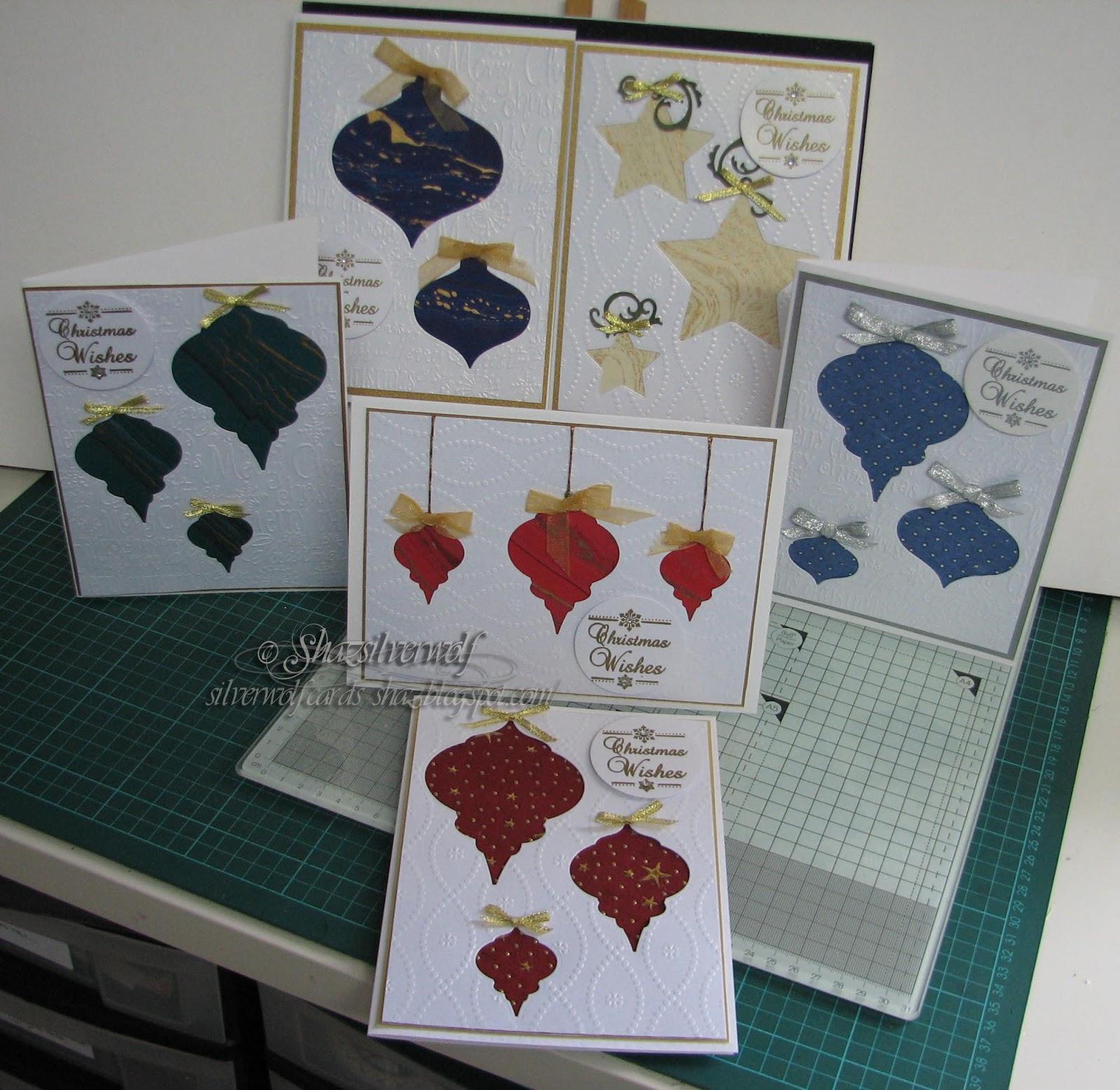 Silverwolf Cards: Die Cut Baubles Christmas Cards #1