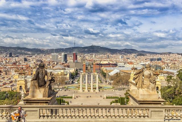 Barcelona, landscape, Piazza di Spagna, Spain, Esagne, Voyage, Trekking
