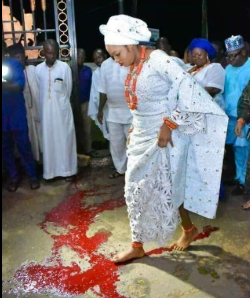 Ooni debunks reports of his new wife stepping on blood as part of her marriage rites