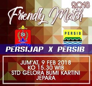 Persib Bandung Hadapi Persijap Jepara Jumat 9 Februari 2018 - Laga Uji Coba