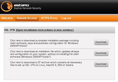 Sophos ssl vpn no default gateway