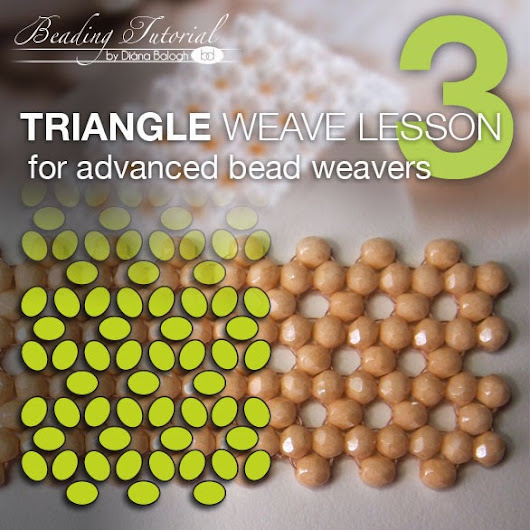 Triangle weave beading lesson 3