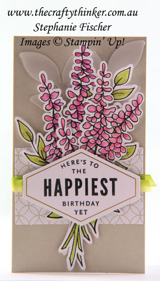 #stampinup, #thecraftythinker, #cardmaking, #cardmakingkit, #sneakpeekoccasionscatalogue, Sneak Peek Lots of Happy Card Kit, Occasions Catalogue 2018, Stampin' Up Australia Demonstrator, Stephanie Fischer, Sydney NSW