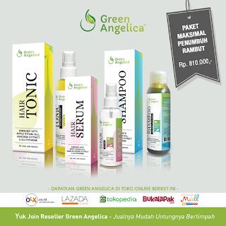 paket maximal penumbuh rambut green angelica