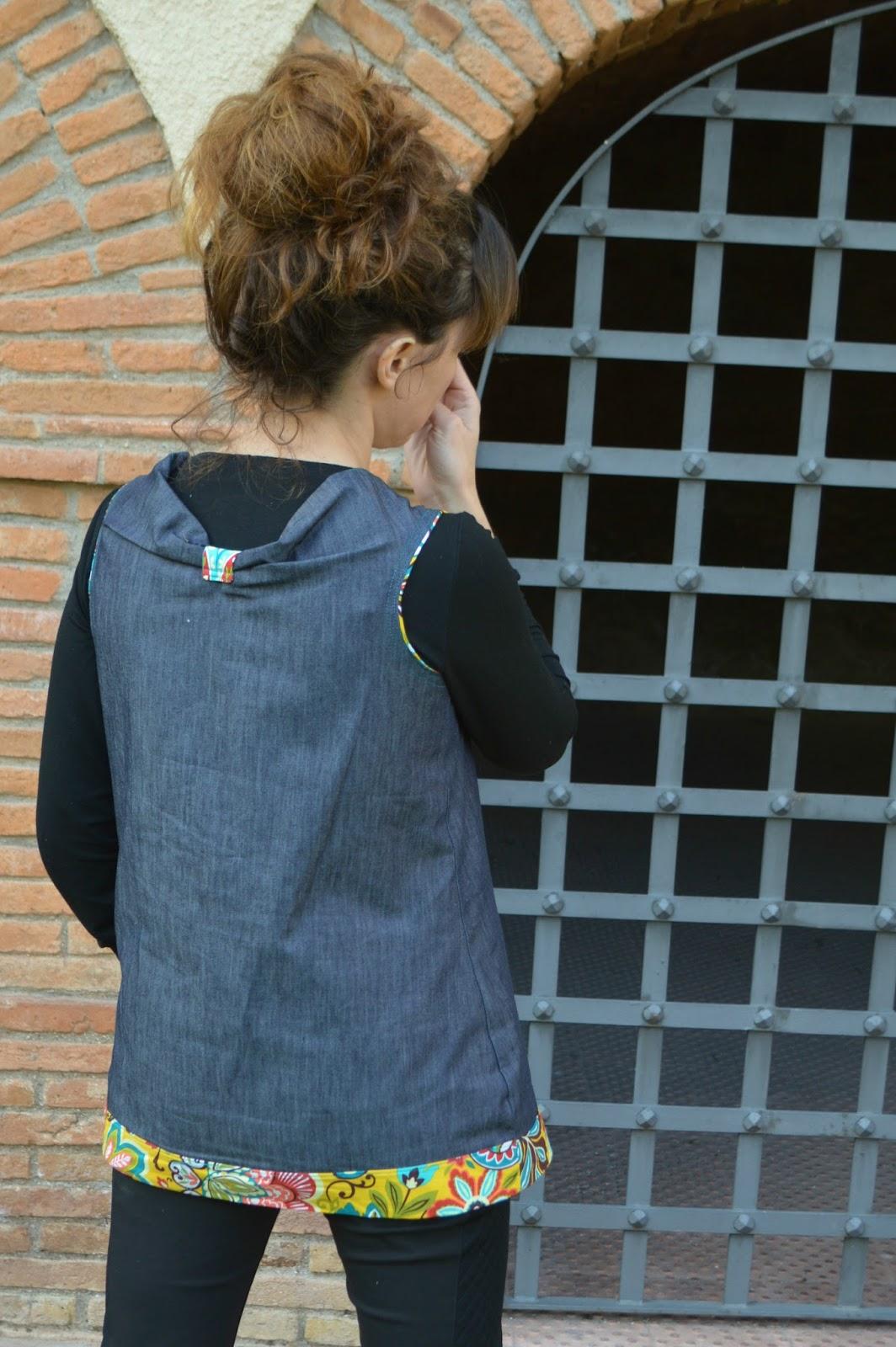 Detalle espalda camiseta mujer handmade uVe