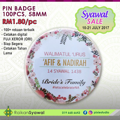 Promosi Cetakan Button Badge 2017
