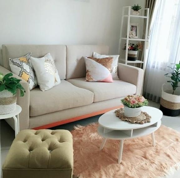 sofa minimalis terbaru untuk ruang tamu sempit elegan