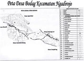 Peta Desa Bodag Ngadirojo Pacitan