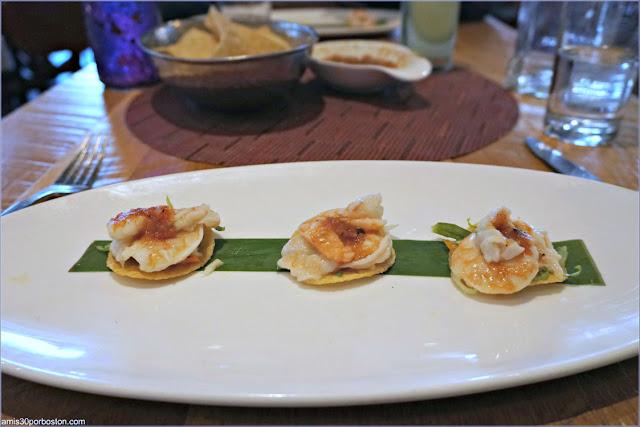 Restaurante Rosa Mexicano: Tostada de Camarones