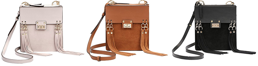 Gemate Mini Leather Crossbody Bag $40