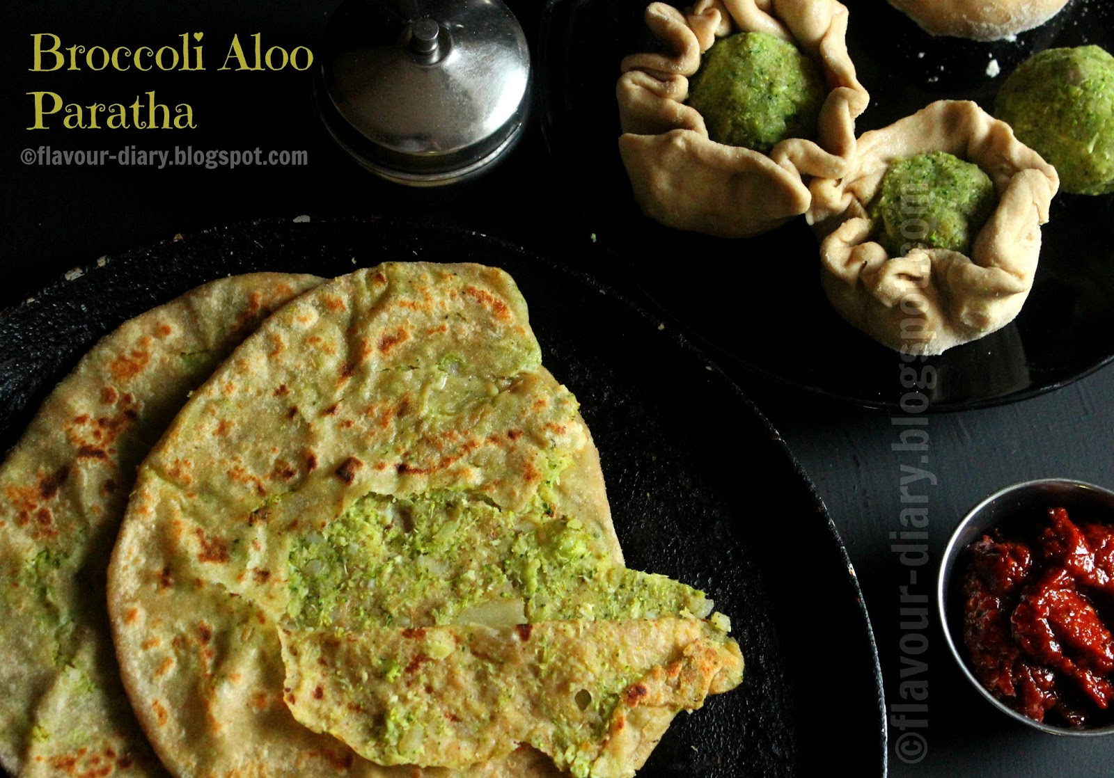 Broccoli Aloo Paratha Recipe