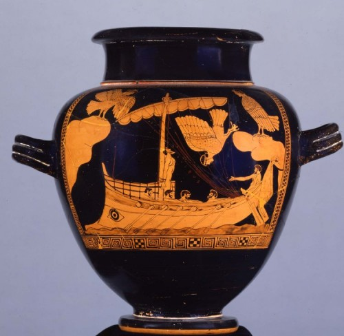 450 BCE red-figure stamnos from Vulci (now in the British Museum)