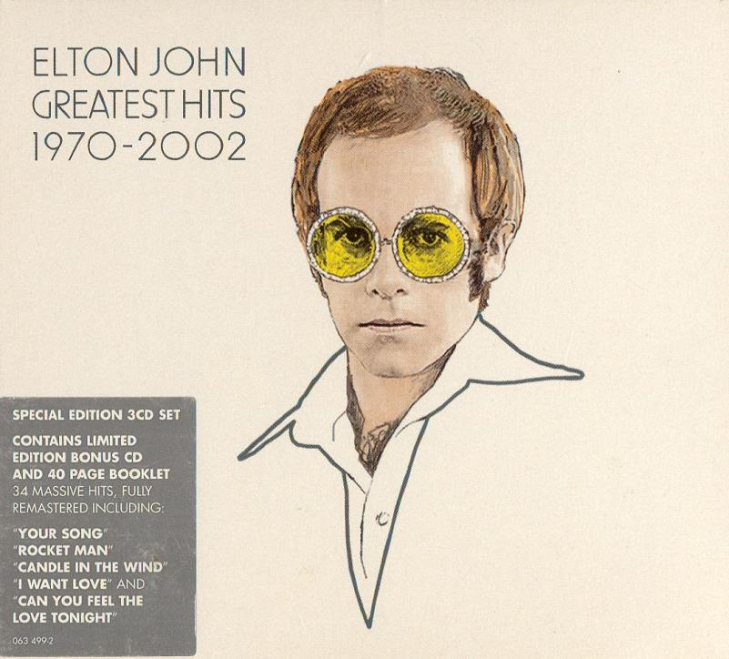 ENTRE MUSICA  ELTON JOHN - Greatest Hits 1970-2002 (3 CDs) 7632bd1d29c