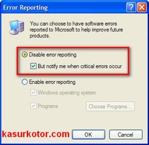 c error reporting