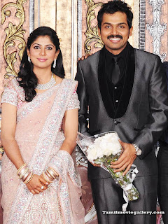 Kollywood Celebrities at Karthi Reception .