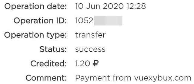 vuexybux payment proof money