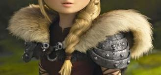 A picture of Astrid Hofferson's new shoulder armor from How to Train Your Dragon 2
