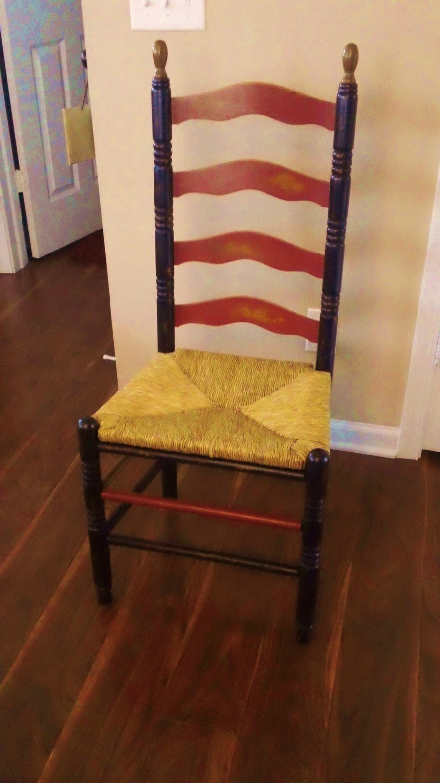 Wise Designs Inspirations Cool Painted Ladder Back Chair