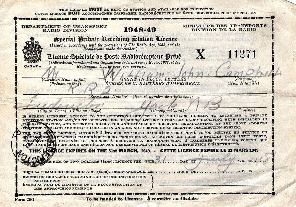 tv license canada