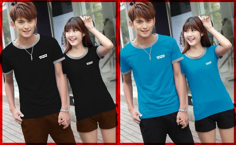 Jual Online Levis Shirt Couple Murah Jakarta Bahan Combed Terbaru
