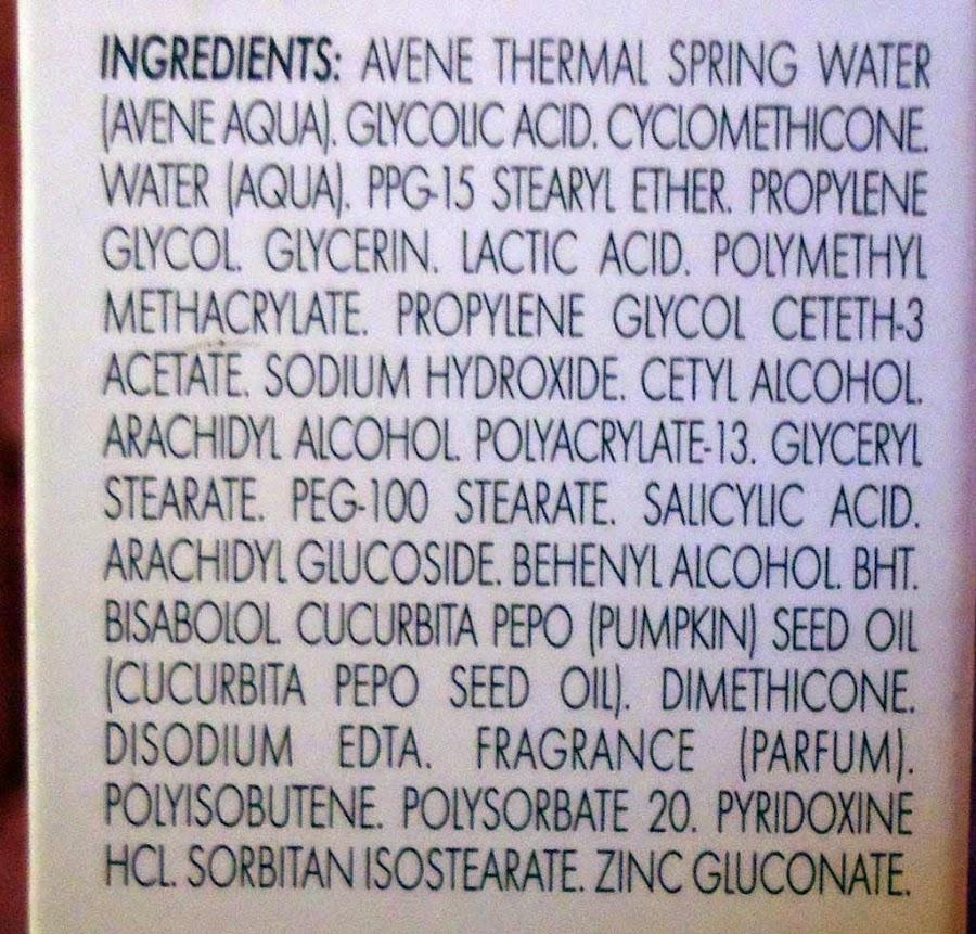 ingredientes avene cleanance k