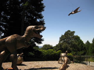 Dinosaur sculptures, Miller Hill Road, Los Gatos, California