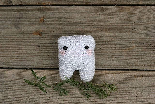Crochet little milk tooth handmade by TomToy