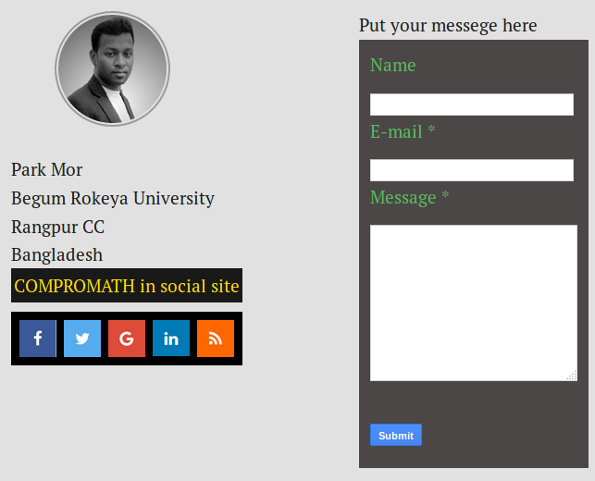 Responsive Multi-layer Contact Form Style Two
