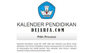 Kalender Pendidikan Semua Provinsi 2017/2018
