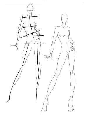 Quest o de estilo for Fashion sketchbook with templates