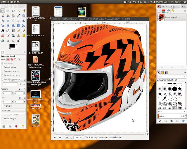DriveMeca muestra como crear una imagen transparente en Gimp
