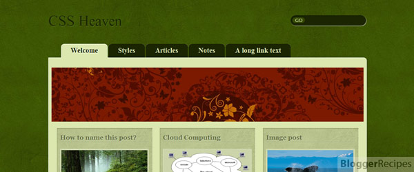 CSS Heaven Blogger Template